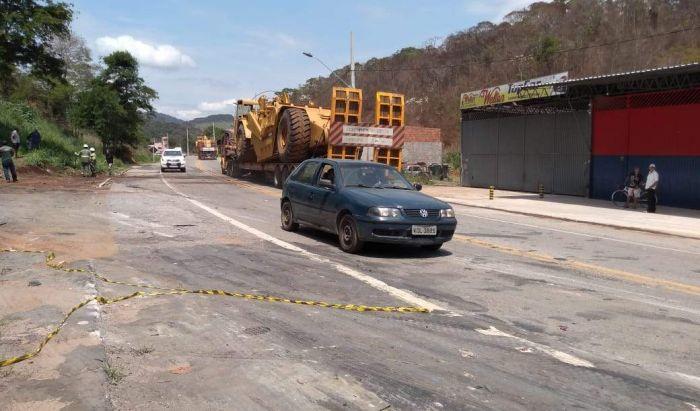 Rodovia BR-262 é liberada em Realeza - Portal Caparaó